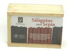 Jack Richeson Yarka Sanguine And Sepia 20 Crayon Box Set 19411 New