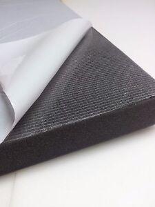 Glatt Schaumstoff SELBSTKLEBEND Dämmung Schallschutz Koffer dekoration 100x50 cm