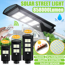 1500W 858LED Solar Street Light Motion Sensor Garden Wall Lamp+Timing Controll