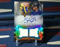 2020 Topps Triple Threads Shed Long Rookie Auto Relic /35 Future Phenom Mariners