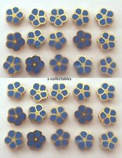Masonic Flower Forget Me Not Enamel Lapel Pin Badge