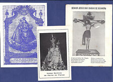 Set of 3 vintage HOLY CARDS Portugal OUR LADY of GOOD TRIP + JESUS from SESIMBRA