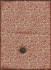 Very Nice Scroll & Micro Dot Geometric Print red on ecru Fabric