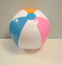 10 NEW LARGE INFLATABLE MULTI COLORED BEACH BALLS  POOL BEACHBALL PARTY FAVORS