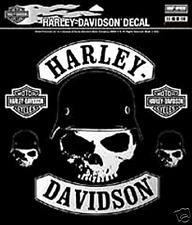 HARLEY DAVIDSON SKULL HELMET DECAL (XXL) 10 INCH