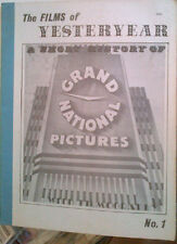 FILMS OF YESTERYEAR #1  A Short History Of Grand National Pictures 1977 VF