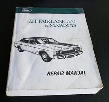 Ford ZH Fairlane 500 Marquis Genuine Factory Workshop Service Repair Manual