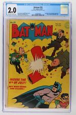 Batman #18 - DC 1943 - CGC 2.0 - Hitler, Hirohito & Mussolini Cover!