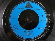 "RAYDIO Jack And Jill UK 7"" 1978 VG+ vinyl 45 single record Funk Disco ARIST 161"