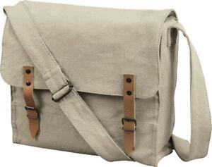 Vintage Cotton Canvas Solid Medic Shoulder Bag