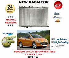 Pour Peugeot 307 cc 3B Convertible 1.6 2.0 16v 2003> Radiateur Neuf ** Qualité