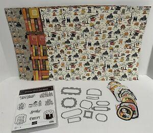Stampin Up SPOOKTACULAR BASH Halloween Ornate Frames Dies Paper Rubber Stamps