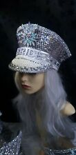 BRIDE  BURNING MAN SPARKLY HALF A CAPTAINS HAT HENPARTY