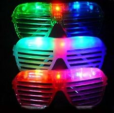 3 pieces Slotted Light Up Flashing LED Novelty Sunglasses Birthday Party Gift