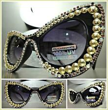 CLASSIC VINTAGE RETRO CAT EYE Style SUN GLASSES Crystals Stones Studs Handmade