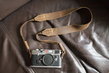 Handmade Real Leather Camera Shoulder Neck Strap for EVIL DSLR Camera Dark Brown