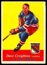 1957-58 TOPPS HOCKEY #66 DAVE CREIGHTON VG N Y NEW YORK RANGERS
