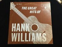 THE GREAT HITS OF HANK WILLIAMS BH VOL. 1 2X VINYL LP ALBUM 1972 MGM RECORDS EX