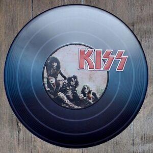Metal Tin Sign round KISS HARD ROCK decor Bar Pub Retro Poster 30cm diameter