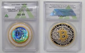 Exclusive Lealana BTC 8 coin set (unfunded), 2013, ANACS 68 (2) & ANACS 69 (6)
