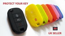 PEUGEOT REMOTE KEY 208 2008 301 508 3 BUTTON FLIP KEY FOB SILICONE COVER CASE 8
