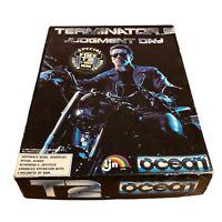 """Terminator 2 Judgement Day CBM Amiga 3.5"""" Disk Ocean Big Box Retro Untested"""