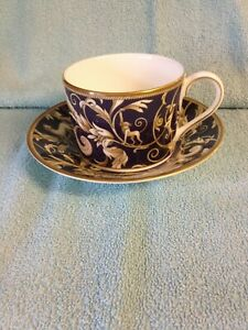 """Wedgwood """"Cornucopia"""" Pattern Large (Breakfast) Cup and Saucer"""