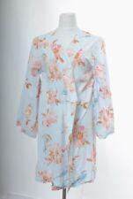 Plum Pretty Sugar Medium Robe Kimono Multi-Color Blue Floral Bird Print Cotton