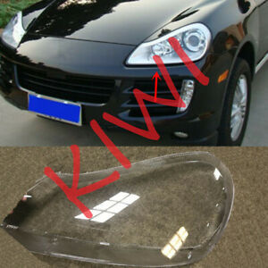 Left Side Headlight Cover Transparent PC With Glue for Porsche Cayenne 2008-2010
