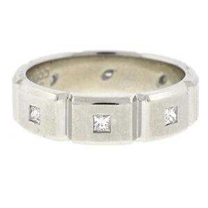 Jeff Cooper Platinum Diamond Wedding Band Ring 6mm