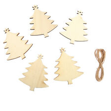 10 x Wooden Christmas TREES,Tags Wedding Decoration Embellishment Shape