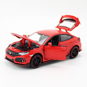 1:32 Honda Civic Type R Model Car Alloy Diecast Gift Toy Vehicle Kids Red Sound