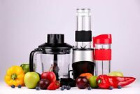 Professional Blender, Chopper, Food Processor with 2 Personal Glass Jars