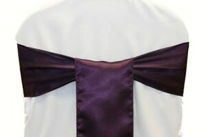 PACK OF 25 Satin Chair Cover Sash Bow Sashes Wedding Banquet decor FREE SHIPPING