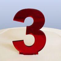 Contemporain Numéro 3 Gâteau Décoration
