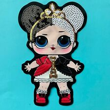 LARGE LOL DOLL SEQUIN FABRIC APPLIQUÉ PATCH SEW ON GIRLS CHARACTER HEARTBREAKER