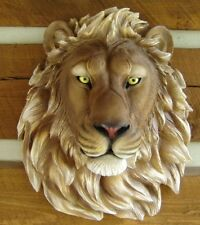 LION LARGE WALL MOUNT HEAD KING OF THE JUNGLE TAXIDERMY