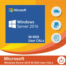 Microsoft Windows Server 2016 - 50 User/Benutzer CAL (RDS)