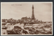 Lancashire Postcard - Storm at Blackpool      RS10122