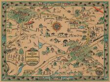 1933 Fowler Pictorial Map of Pinehurst and Southern Pines, North Carolina