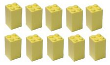 Lego 10x Bright Light Yellow Brick 2x2x3 (30145) NEW!!!