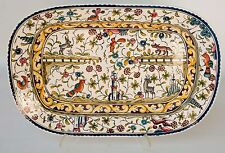 "Large Tray Nazari Company Ceramicas de Coimbra Portugal Willaim Sonoma 20"" x 14"""