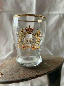 Antique commemorative Queen Elizabeth II 1953 coronation shot / tot glass