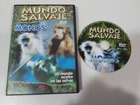 MONOS UN MUNDO OCULTO EN LAS SELVAS MUNDO SALVAJE DVD ESPAÑOL ENGLISH MULTIZONA