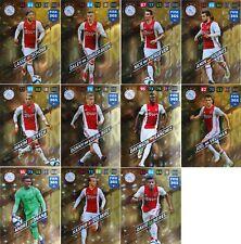 2018 FIFA 365 Panini Adrenalyn XL LIMITED AJAX set 11 CARD ZIYECH VELTMAN SCHONE