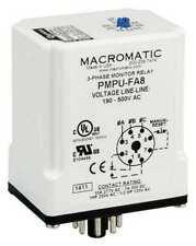 MACROMATIC PMPU-FA8 3 Phase Monitor Relay,SPDT,500VAC,8 Pin