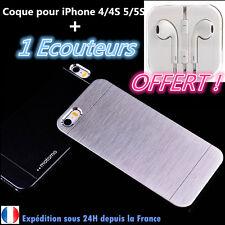 Coque Etui Housse Aluminium Métal Anti choc iPhone 4 / 4S / 5 / 5S + ECOUTEURS