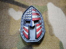 3d AMERICAN SPARTAN stars & stripes helmet VELCR0 PATCH BADGE 300 infidel new