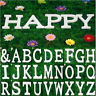 8 cm Alphabet Wall Sticker DIY Decor Wood English Letters Standing Hanging White