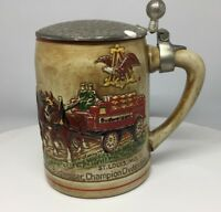 Lidded Clydesdales stein CSL9 First stein, hammered lid style circa 1976